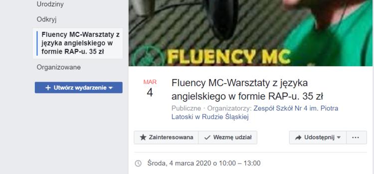 MC FLUENCY W KATOWICACH – Szkolny Klub Europejski organizuje wyjazd na warsztaty z języka angielskiego w formie RAP-u