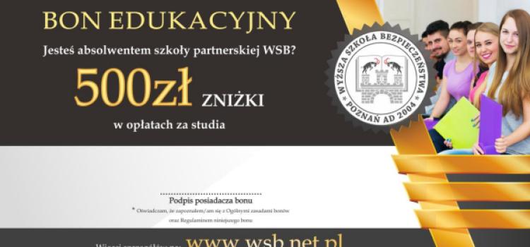 Współpracujemy z WSB. Wyższa Szkoła Bezpieczeństwa w Gliwicach przygotowała specjalną bonifikatę na studia dla uczniów szkoły partnerskiej