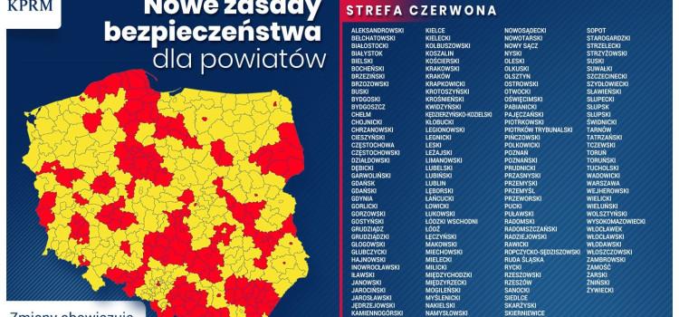 Pilne! Od 17.10.2020 r.  Ruda Śląska będzie pośród 152 powiatów w całej Polsce, które będą w strefie czerwonej